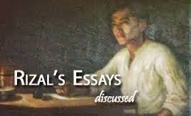 "jose rizal 6 essay By mei velas-suarin other essay written by dr jose rizal unpacking the atenean in jose rizal ""i owe much to this order [the jesuits] — almost all that i am taken to be."